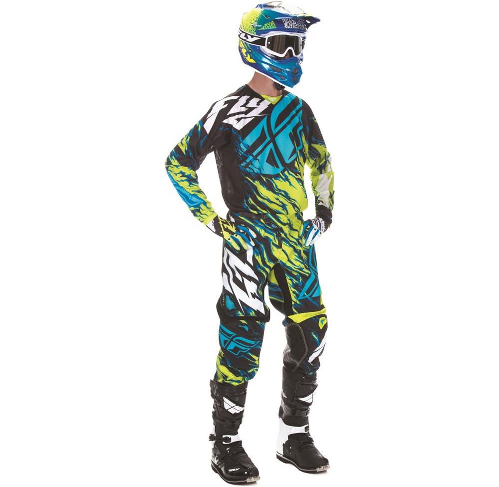 FLY - 2017 Kinetic Relapse комплект штаны и джерси, зелено-синий