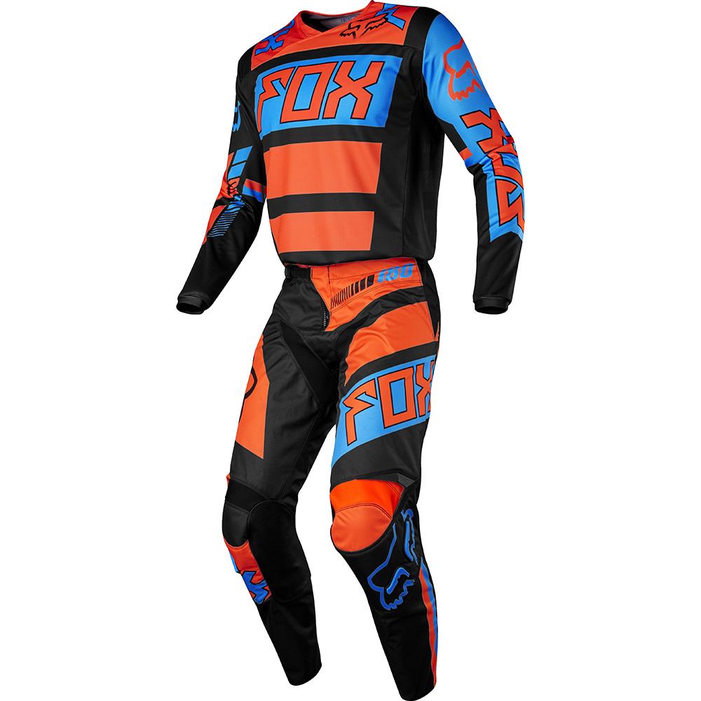 Fox - 2017 180 Falcon Youth подростковый комплект штаны и джерси, черно-оранжевые