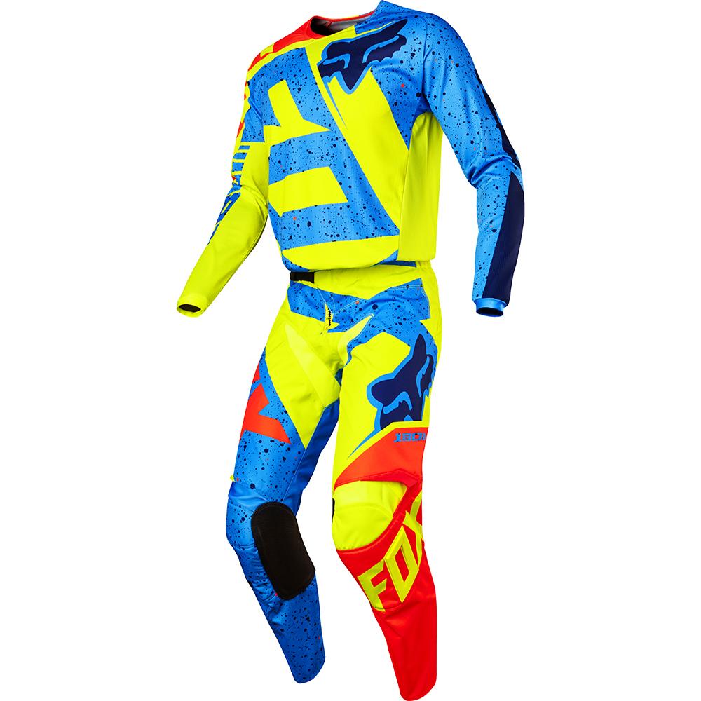 Fox - 2017 180 Nirv комплект штаны и джерси, желто-синие