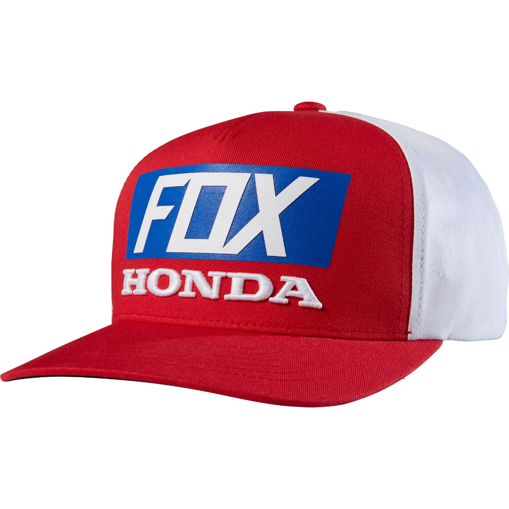 Fox - 2017 Honda Standard бейсболка, красно-белая