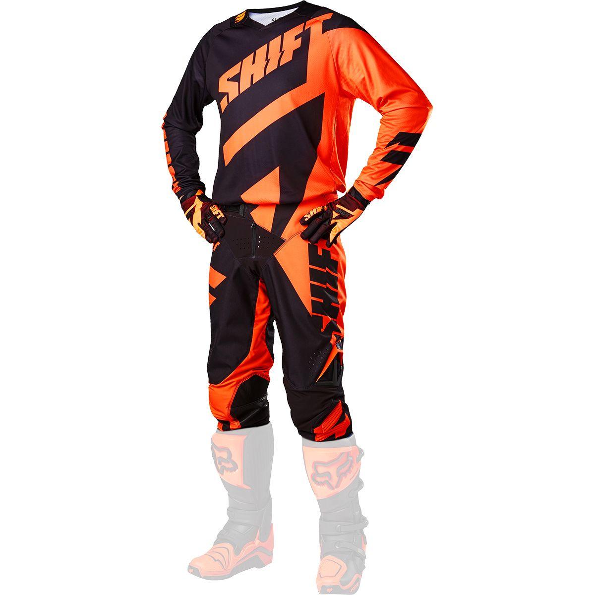 Shift - 2017 3LACK Mainline комплект штаны и джерси, черно-оранжевые