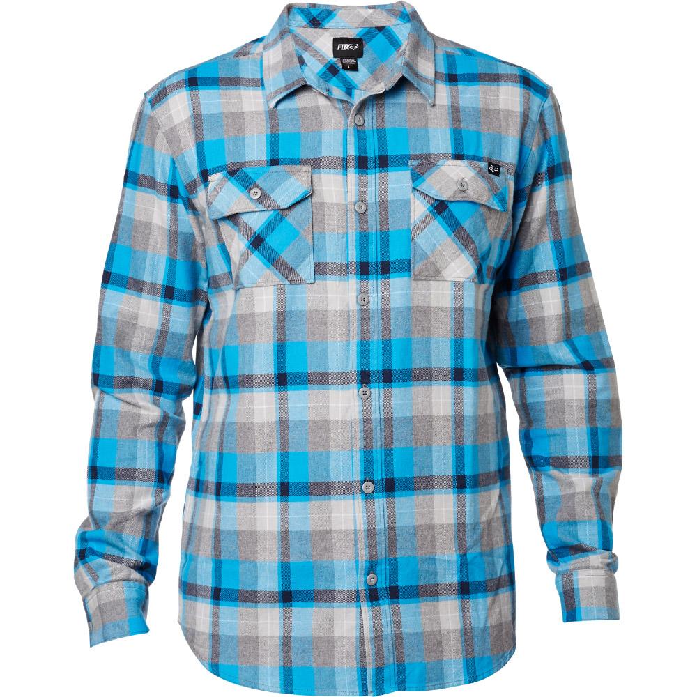 Fox - Traildust LS Flannel рубашка, синяя
