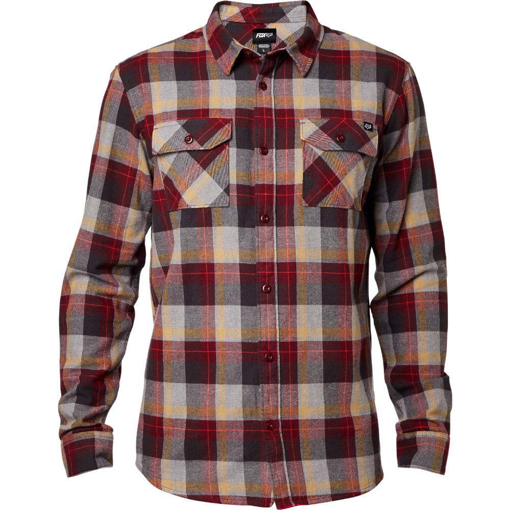 Fox - Traildust LS Flannel Burgundy рубашка, красная