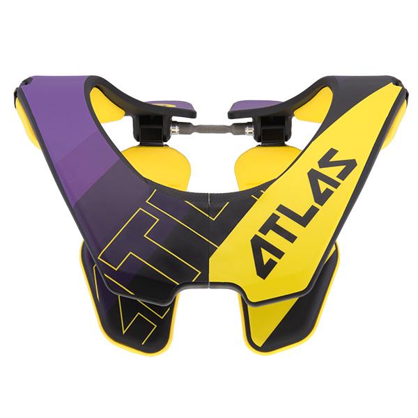 Atlas - Air Baller защита шеи, желто-черно-фиолетовая