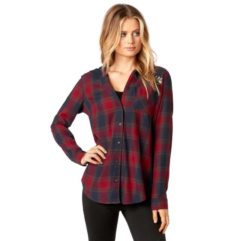 Fox - 2017 Deny Flannel Dark Red рубашка женская, красная