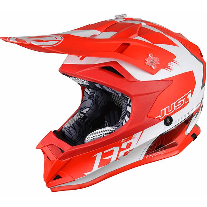 Just1 - J32 Pro Kick Kids White/Red шлем, подростковый бело-красный матовый